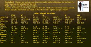 Military Size Chart Size Chart All American Military Surplus