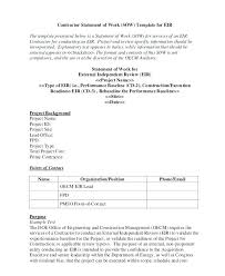 Sow Statement Work Template For Website Design Of Consulting ...