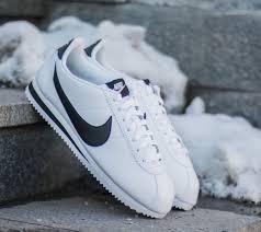 nike cortez white leather