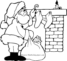 Christmas Coloring Book Pictures To Color Santa Coloring Pages For