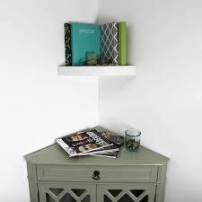 inplace 11 8 in w x 2 in h floating corner wall shelf