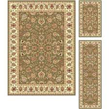 3 piece rug set sets green area rugs the home depot bathroom bed bath and beyond