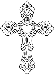 Trend Cross Coloring Sheet Stained Glass Printable Sunday School And