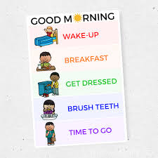 Morning Routine Charts Set Of Four This Mom Life
