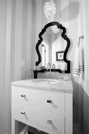 powder room furniture. Enjoyable Black Antique Mirror Frames Attach Gray Striped Wall Decals Feat Single Bowl Sink White Drawers Powder Room Furniture A