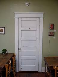craftsman style door trim header entablature