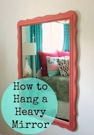heavy mirror hanging mirror