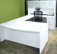 large office table. White Office Desk With Drawers Table U Shaped Multi Functional And Large