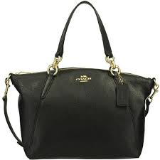 Coach Pebble Leather Small Kelsey Satchel F28993 Imblk