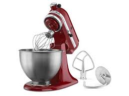new red kitchenaid stand mixer tilt 4 5 quart ksm85pber metal stainless steel bw