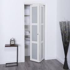Erias Home Designs Euro Closet and Room Divider Door White 3 Lite