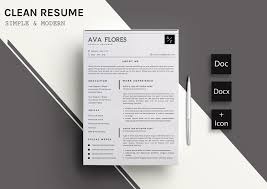 Clear Resume Cv Template 11 Resume Templates Creative Market