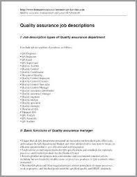 Quality Control Inspector Job Description For Resume