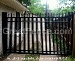 picket fence double gate. S8 Black Driveway Gate With Double Pickets -- Great Fence Picket