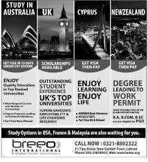 Study in Australia, UK, Cyrus, New Zealand Breeo International ...