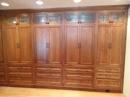 classy handmade oak built in wardrobe closet unstained