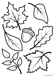 Fall Leave Nature Coloring Pages Printable