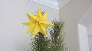 How to Fold a Christmas Tree Topper Yellow Star Paper Art Origami - YouTube