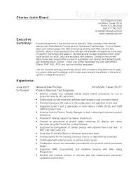 Drive Test Engineer Sample Resume Stunning Prototype Test Engineer Sample Resume Letter Example