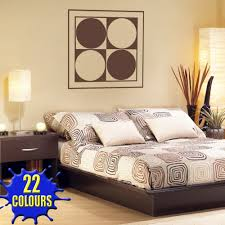 chocolate brown abstract modern wall art 2 decal above a bed