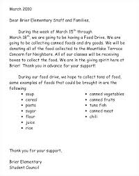 Thank You Letter For Food Donation Donation Letter Template For Schools