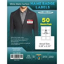 Free Download Label Templates Microsoft Word Extraordinary Amazon White Matte Surface Name Badge Labels 48488 X 484848