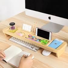 office desktop storage. Bamboo Wood Tidy Office Desktop Storage Rack Desk Organizer Holder Shelf, Stationery R
