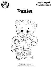 Printable Tiger Coloring Pages Characters Daniel Sheets Tigers
