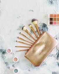 z oreya mermaid series rose gold makeup brush set sgd 35