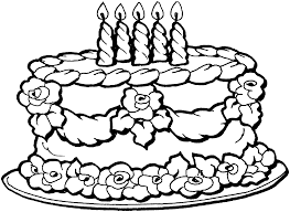 Small Picture Birthday Cake Coloring Page ReJeanParent Best Coloring Pages