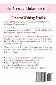 The Candy Maker Resume Resume Writing Hacks Resume Psychology