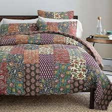 15 best Real Patchwork Quilted Coverlet Bedspread Bedding Sets ... & DaDa Bedding Floral Masterpiece Bohemian Patchwork Quilt Coverlet Bedspread  Set in Home & Garden, Bedding, Quilts, Bedspreads & Coverlets Adamdwight.com
