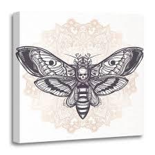 Amazoncom Emvency Canvas Wall Art Print Deaths Head Hawk Moth