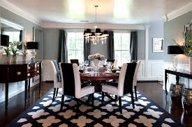 houzz area rugs dining room traditional with round table dark stained wood floor