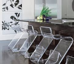 modern acrylic furniture. Acrylic Furniture - Plexi-Craft Z Bar Stools With Dark Stained Island By Designer Modern D