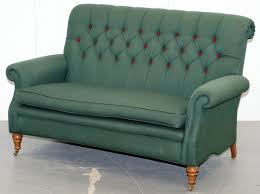 wellington model howard style chesterfield green upholstery two seat bench sofa vinterior