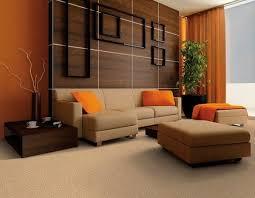 brown and beige leather sofa orange
