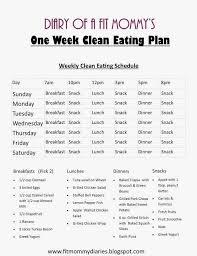 Eating Clean Meal Plan Summer Menu Food Coma Healthy Eating