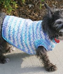 Crochet Dog Pattern Amazing Crochet Dog Sweater Red Heart