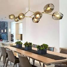 globe glass pendant lamp branching bubble modern chandelier light for kitchen cafe cloth 3 5