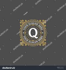 Simple monogram design template with letter Q. Elegant frame ornament line  logo design. Good