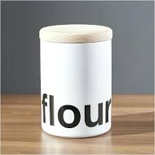 modern kitchen canisters simply modern kitchen canisters spell out its contents in black and white in