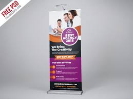 Free Psd Professional Agency Roll Up Banner Psd Template By Psd
