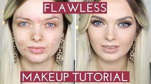 acne coverage flawless foundation makeup tutorial mypaleskin you
