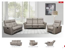Modern Living Room Set 8501 Recliner Light Grey Leather Modern 3 Pcs Sets Living Room