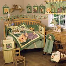 Fair Image Of Baby Nursery Room Decoration With Jungle Themed Baby Bedding  : Handsome Unisex Baby