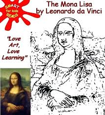 Mona Lisa Coloring Page Colour Color In The By For Kids Mona Lisa