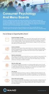 Menu Board Design Tips Consumer Psychology And Menu Boards