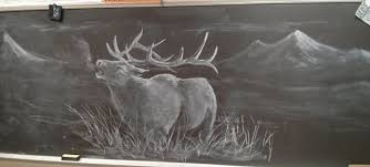 Art Teacher Does Some Amazing Chalkboard Drawings To Motivate His Students