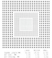 A Resolution Test Chart Imaged By The Line Scan Raman